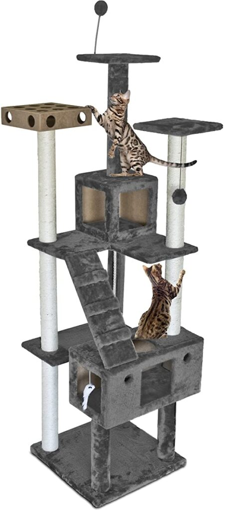 Cat Tree Tower Scratcher Playground with Condo and Toys